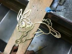 금속세공 토끼밤비톱질연습