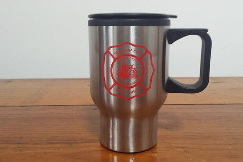 16oz Travel Mug With N.C.V.F.D Logo