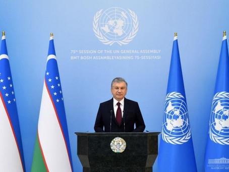 Prezident Shavkat Mirziyoyevning BMT Bosh Assambleyasining 75-sessiyasidagi nutqi