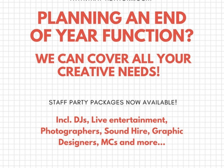 STAFF PARTY PACKAGES - End Of Year Specials