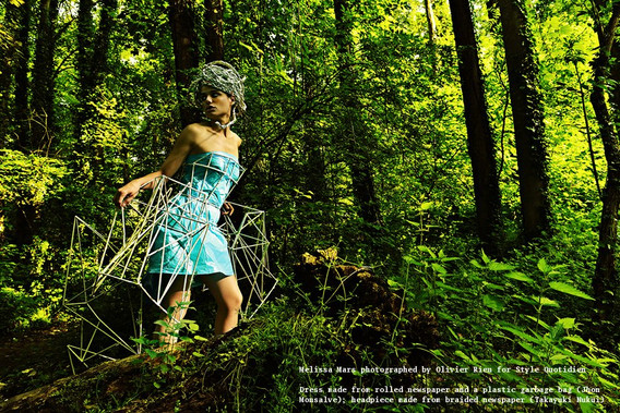 Fashion Editorial Style Quotidien Recycling Theme Featuring: Melissa Mars Photography: Olivier Rieu