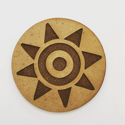 Posavasos Pintadera, grabados en madera