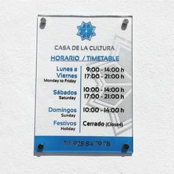 Horario Casa de la Cultura