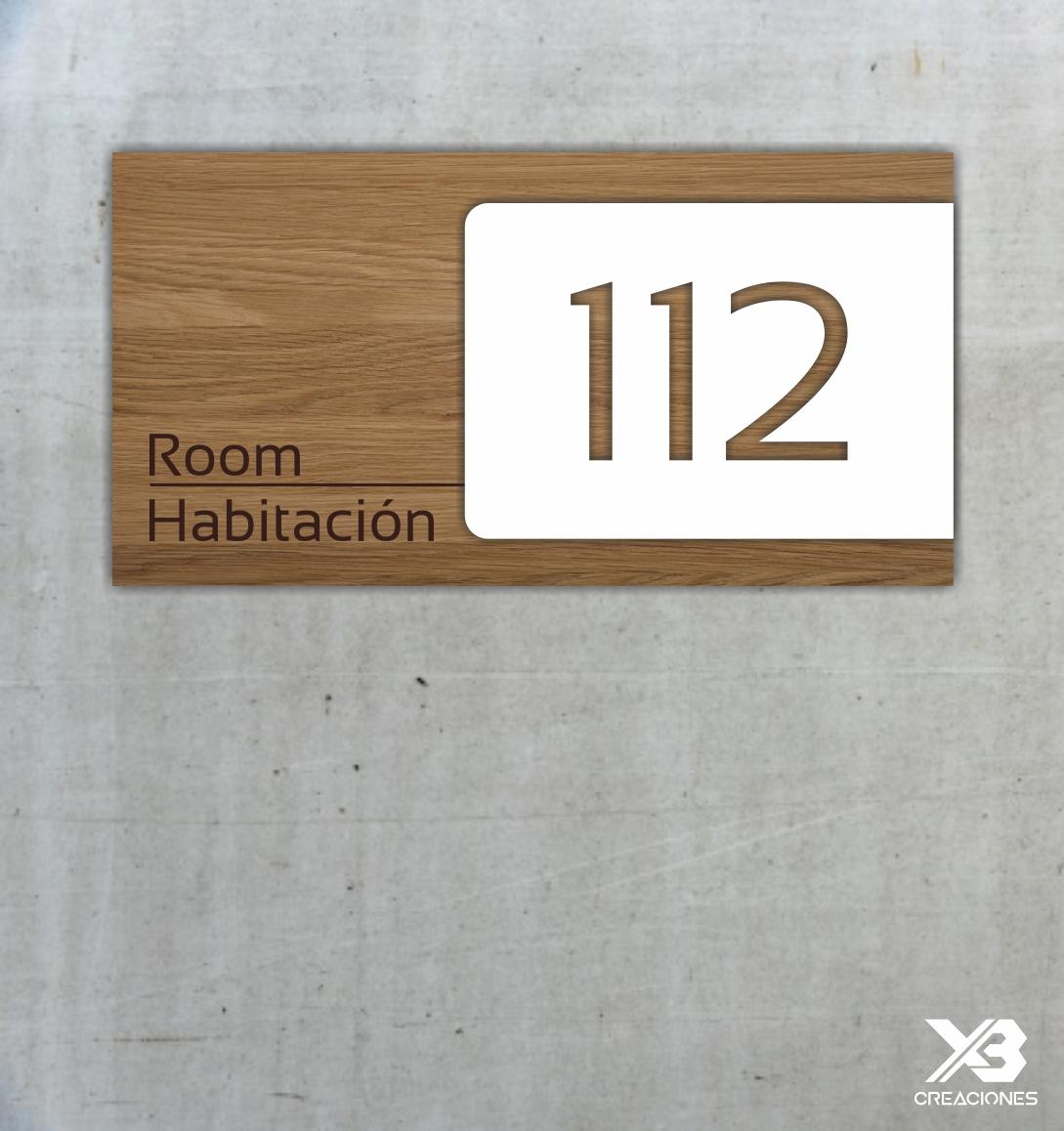 señaletica habitación