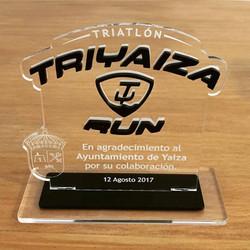 Trofeo agradecimiento al Ayuntamiento de Yaiza para Triyaiza Run