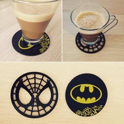 posavasos spiderman - batman
