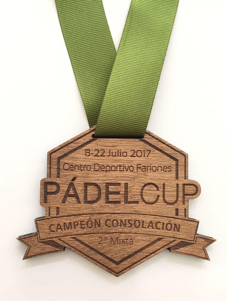 Medalla Padel Cup Madera