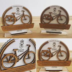 Trofeos doble madera