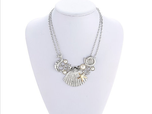 Silver Plated Sea Reef Necklace