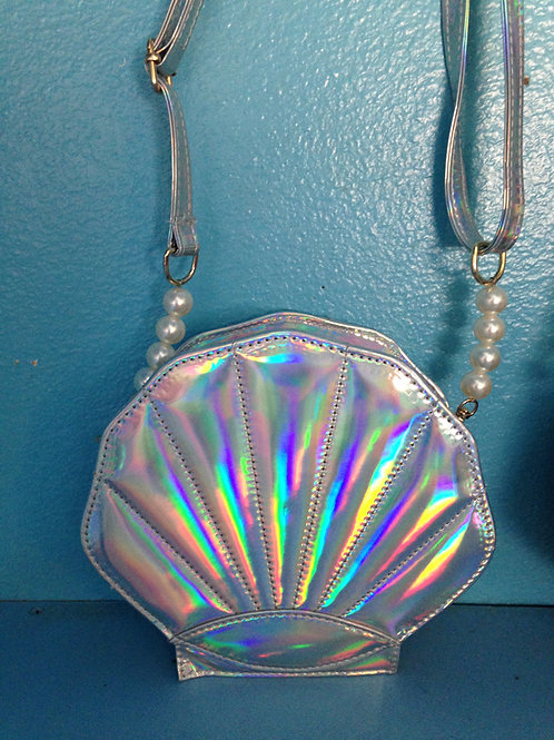 Silver Hologram Shell Purse