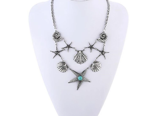 Sea Life Necklace Silver Plated
