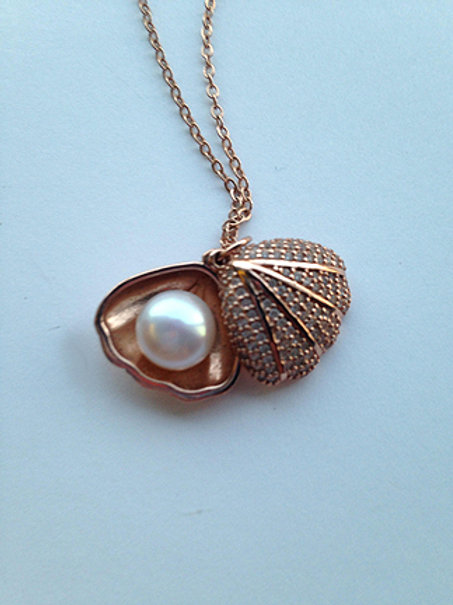 Rose Gold Plated Sea Shell Pendant