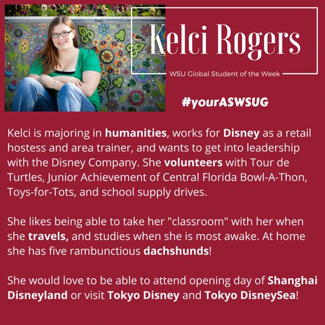 Student of the Week Kelci R. #yourASWSUG - Copy