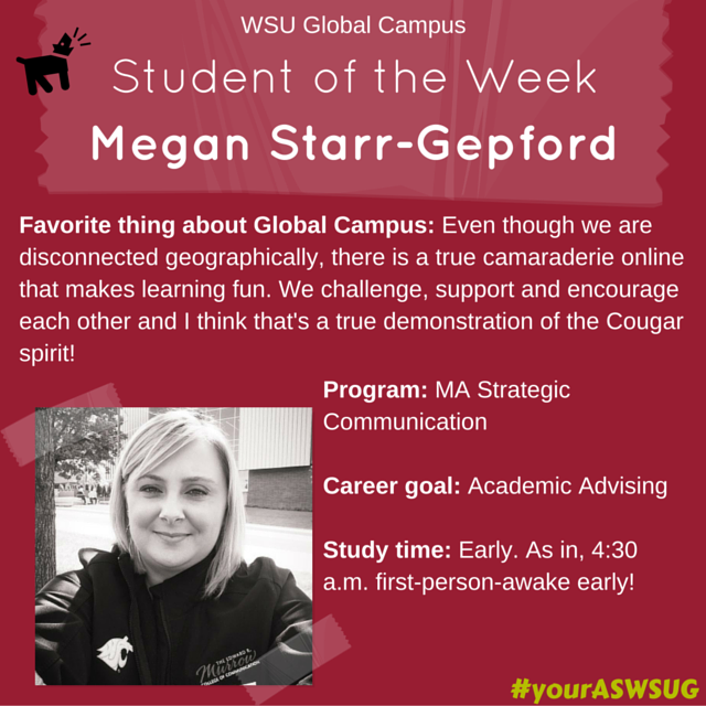 Student of the Week Megan S-G #your ASWSUG