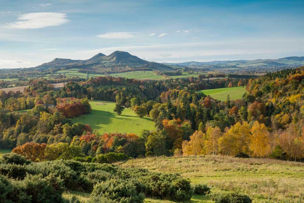 Scott's View, Scottish Borders. Home of Sir Walter Scott