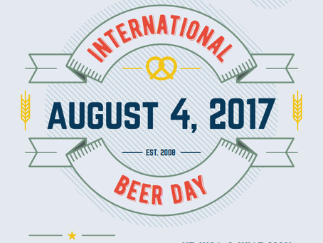 International Beer Day, Friday 4th August 2017