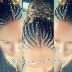 Free-style Feed-in Cornrows