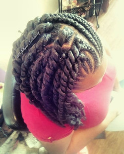 Half and half Crochet Braids