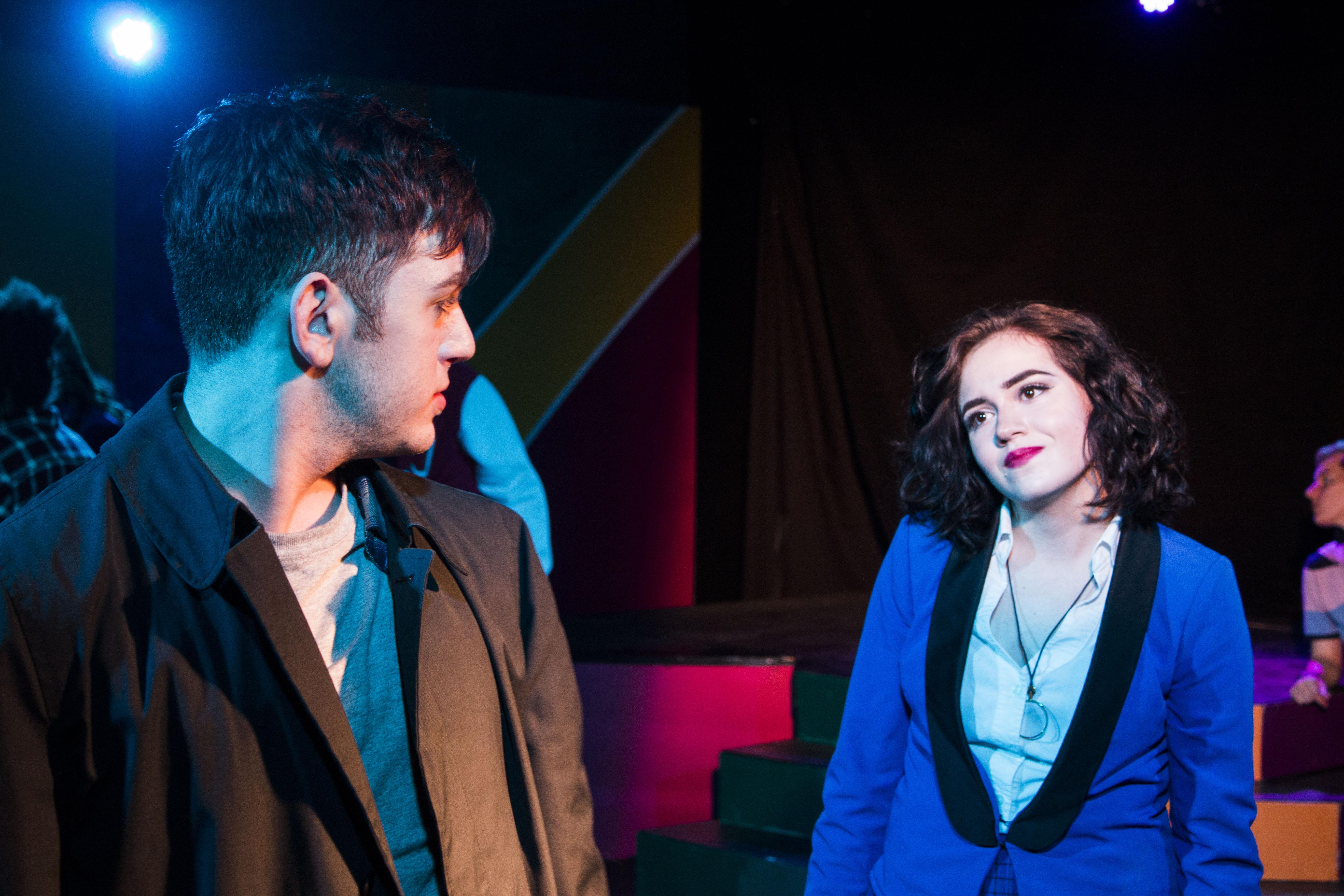 Colburn as JD, Daniels as Veronica