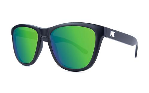 Knockaround Premiums Matte Black /Polarized Green Moonshine