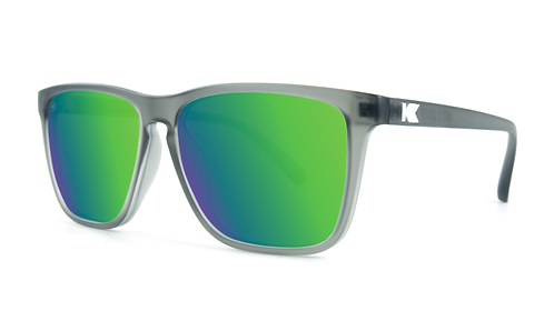 Knockaround Fast Lanes Frosted Grey / Green Moonshine