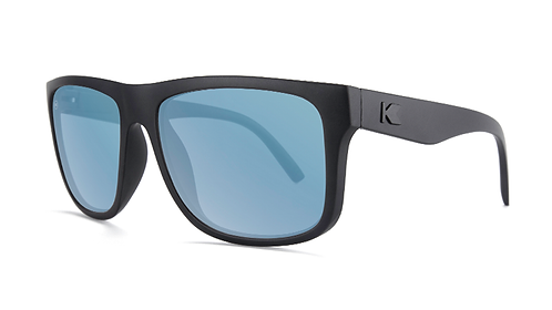 Knockaround Torrey Pines Matte Black on Black / Sky Blue