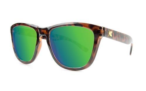 Knockaround Premiums Glossy Tortoise shell / Green Moonshine