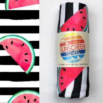UPF 50+ Sunscreen Towels - Hooded - Watermelon