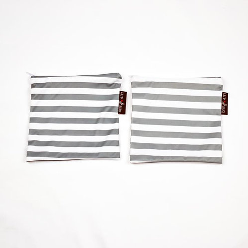 Luv Bug Reusable Snack Bag - 2 pack - Grey stripe