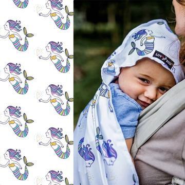 UPF 50+ Sunscreen Towels - Hooded - Mermaids