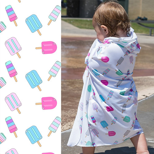 UPF 50+ Sunscreen Towels - Hooded - Popsicles