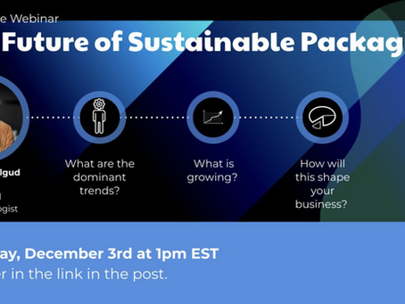 Dec 3: Webinar on Sustainable Packaging