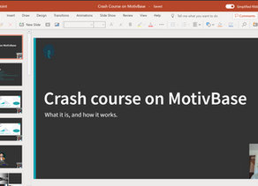 Crash course on MotivBase