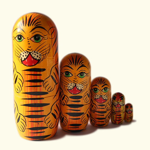 Tiger Toy (Set of 5)