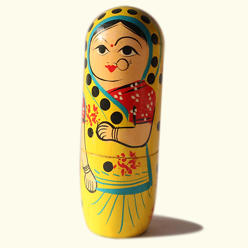 Indian Lady in Yellow (Set of 5)