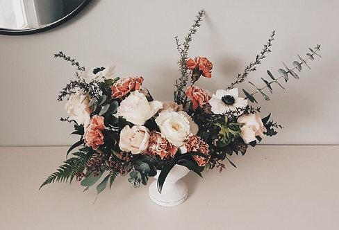 White Compote Vase