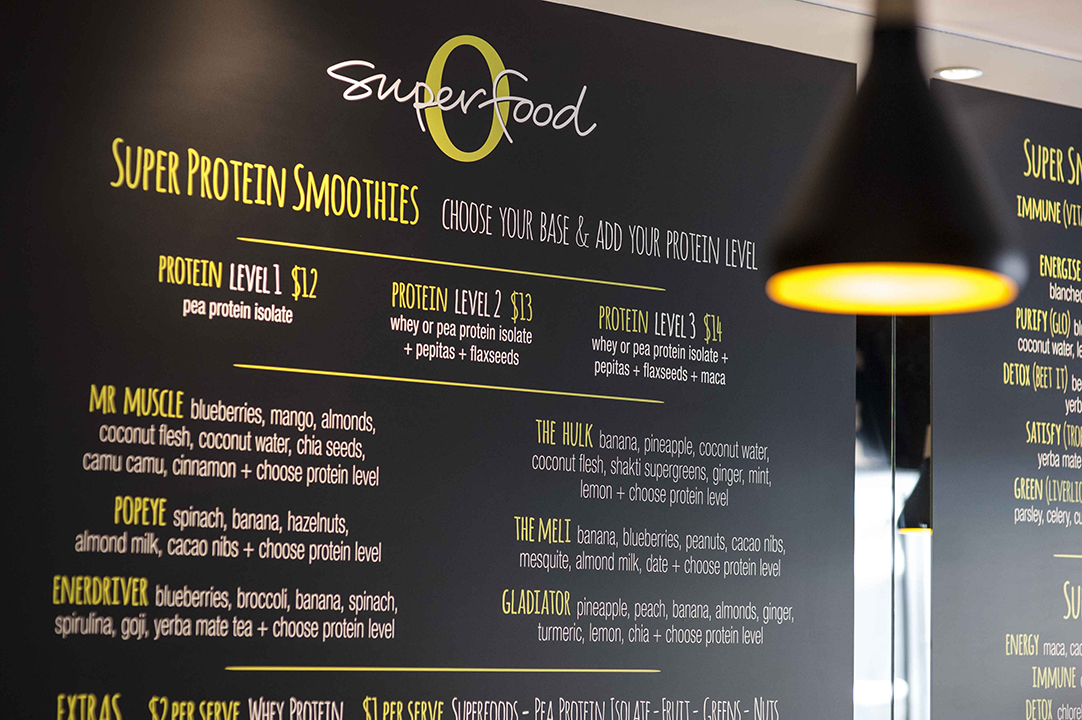 O Superfood menus