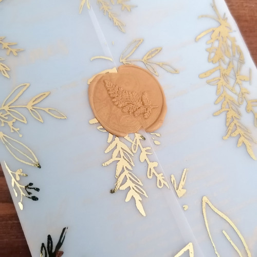Vellum and foil wuth wax seal