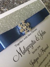 Glitter topped Invitations