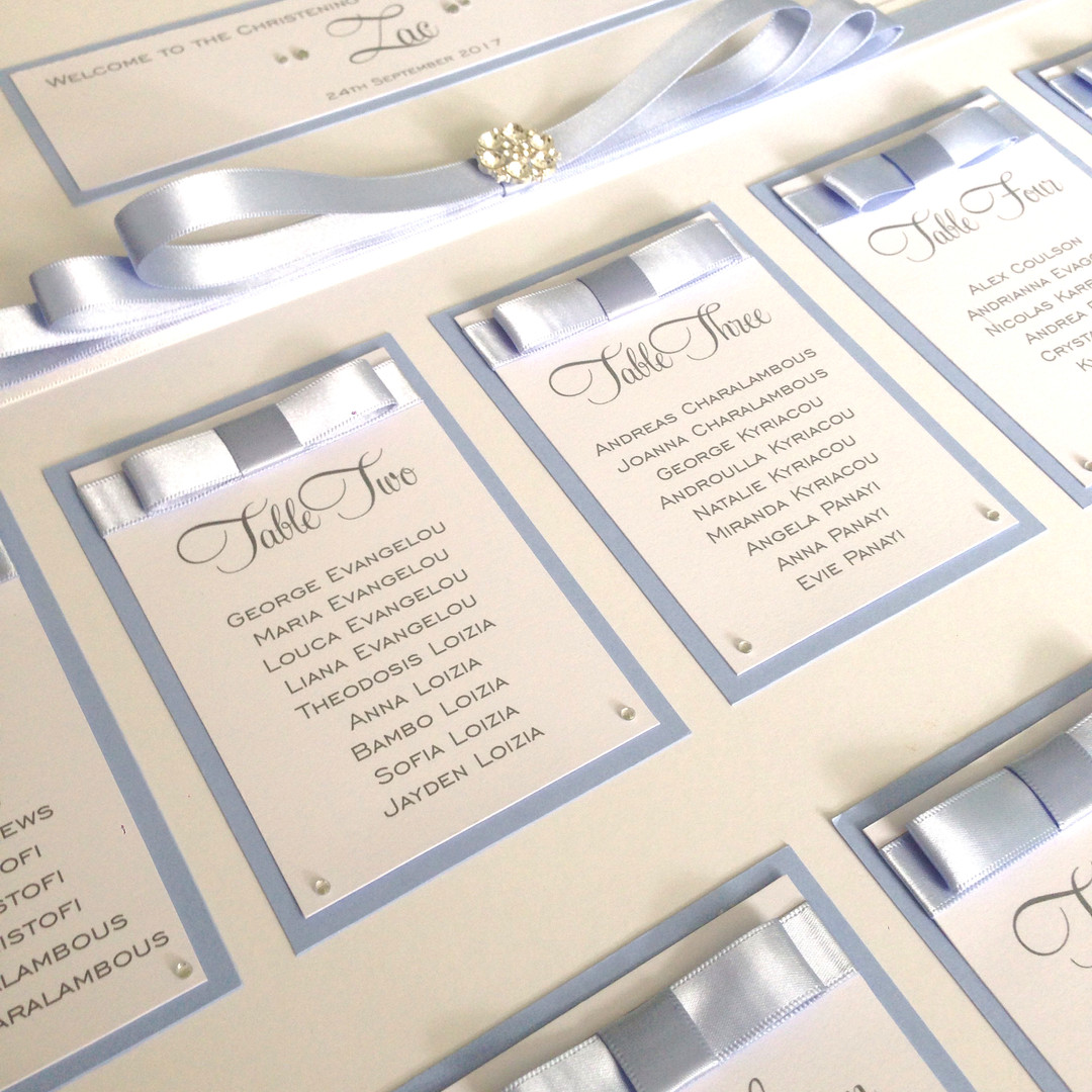 Baby shower table plan