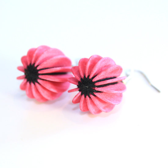Ear Lollies Pink & Black Thread