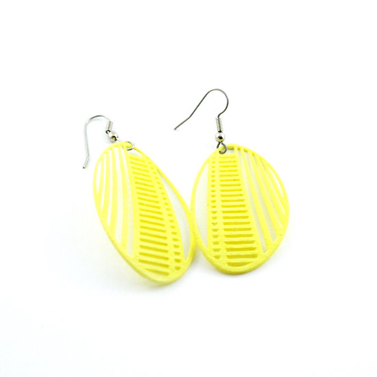 Ear Lollies Stitched Neon Yellow