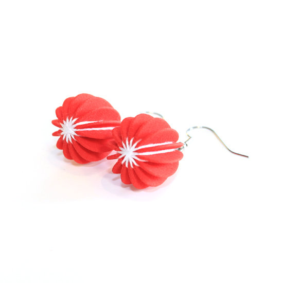 Ear Lollies Red & White Thread