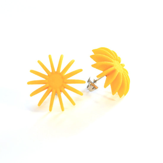 Ear Lollies Studs Yellow