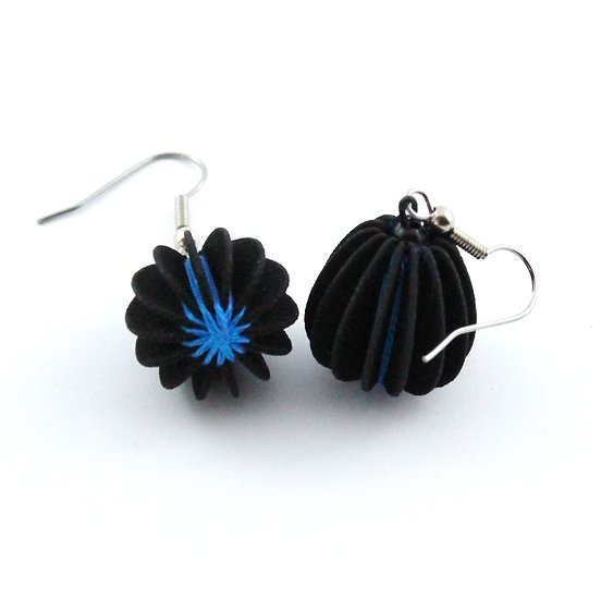 Ear Lollies  Black & Blue Thread
