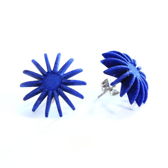 Ear Lollies Studs Navy Blue