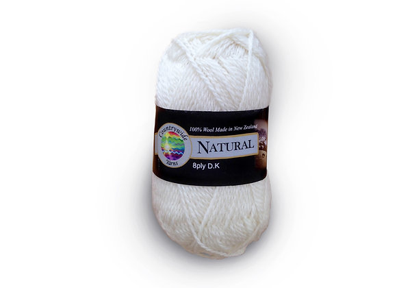Countrywide Yarns Natural 8 ply DK