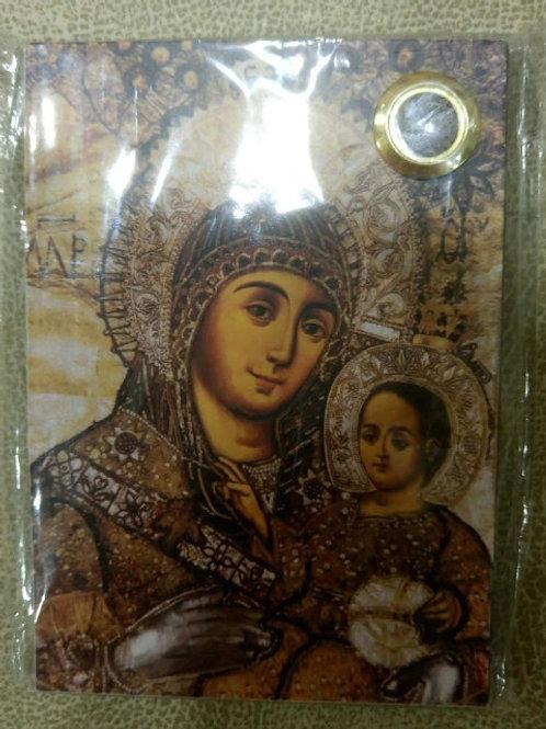 """Икона №2 большая """"Вифлеемская Божья Матерь"""" с частицами святой земли в стекл. ок"""