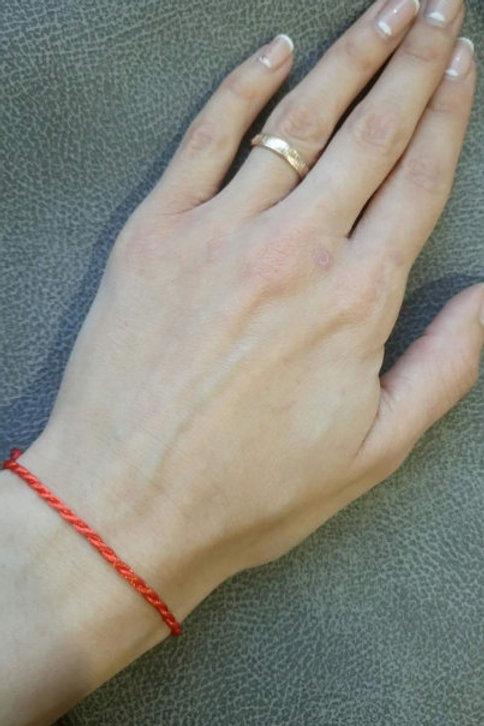 Красная нить №2 двойное плетение