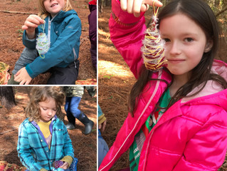 Gray Squirrels 2017-18: Week 5 - Mapping, Nature Crafts & Fire Challenges